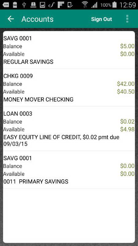 WSECU Mobile Banking- screenshot