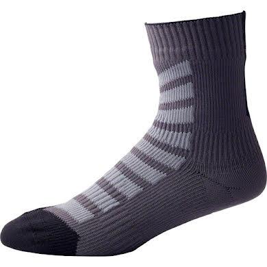 SealSkinz Thin Mid Hydrostop Waterproof Sock: Black