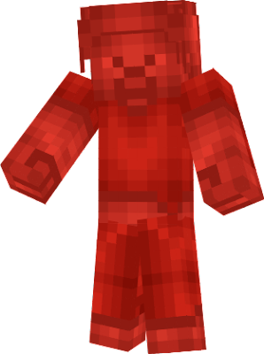 if you see red steve he will attack you if you want him to stop attacking you you have to give him Something red like redstone
