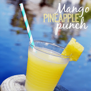 Mango Pineapple Punch Cocktail.