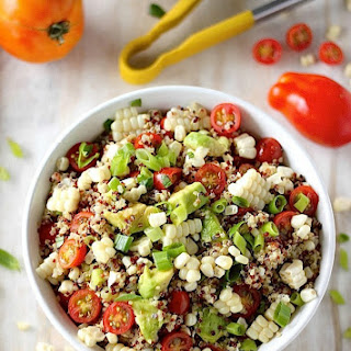 End of Summer Corn, Tomato, and Avocado Quinoa Salad