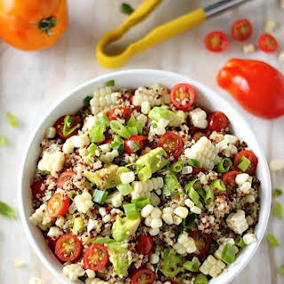 End of Summer Corn, Tomato, and Avocado Quinoa Salad.