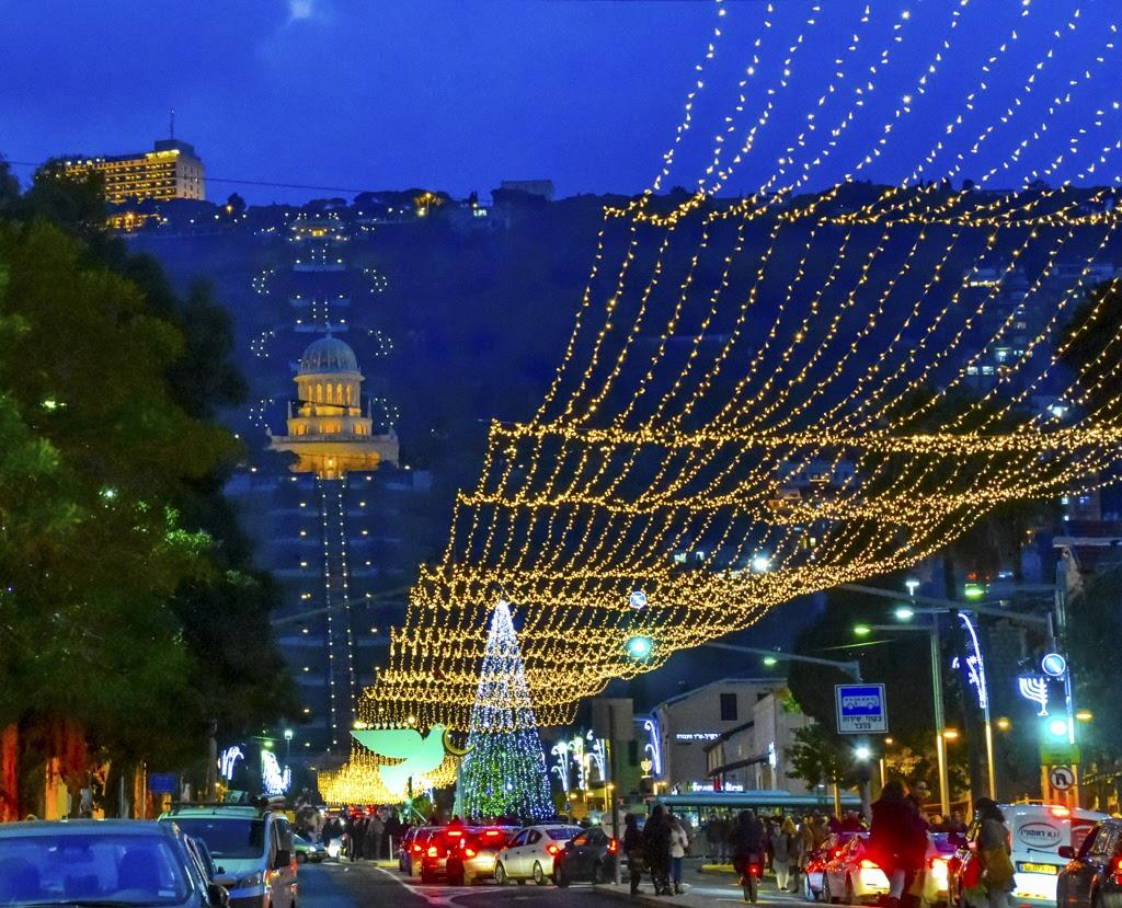 Новый год и Рождество на Святой Земле, Хайфа