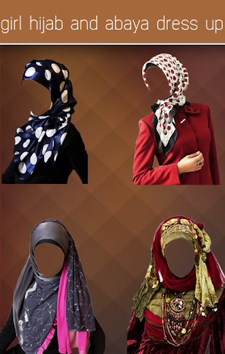 girl hijab and abaya dress up