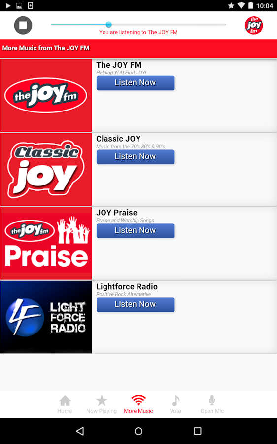 The JOY FM Florida- screenshot