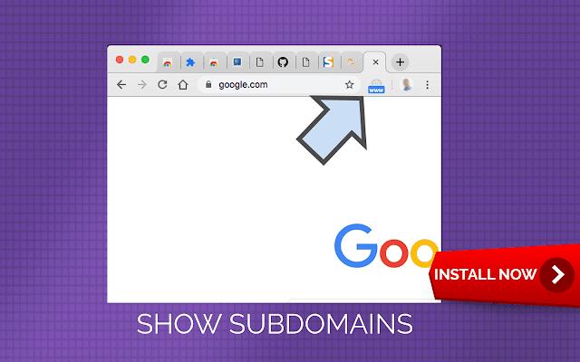 Show subdomain of web address