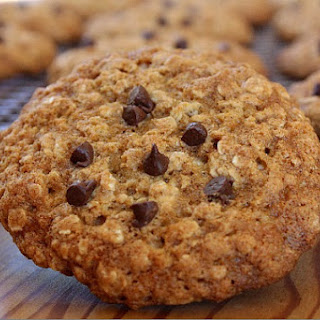 Low Fat Oatmeal- Chocolate Chip Cookies.