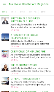 Mölnlycke Health Care Magazine- screenshot thumbnail