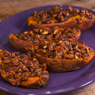 Jeff Mauro's Pecan Praline Thrice Baked Sweet Potatoes