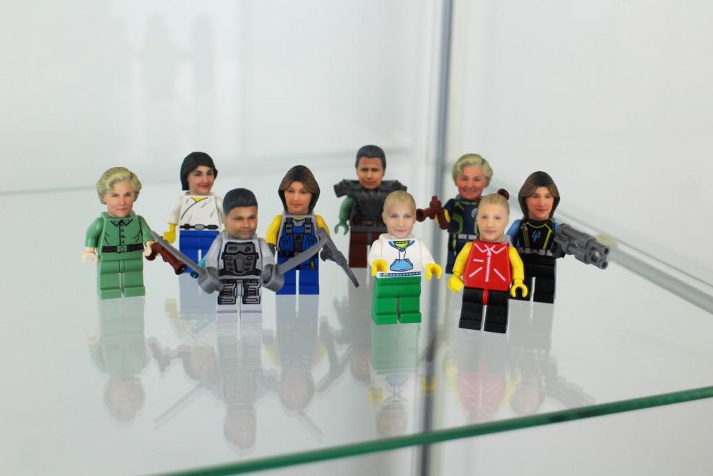 Funky 3D Faces предлагает напечатанные на 3D-принтере Lego-селфи