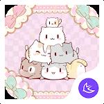Pink Cute Kitten-APUS Launcher Stylish Theme