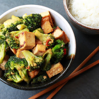 Stir-Fry Broccoli & Baked Tofu