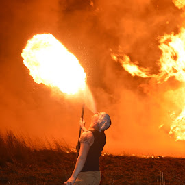 Fire Breather by Wendy Williams - People Musicians & Entertainers ( man entertainment, breathing, fire,  )