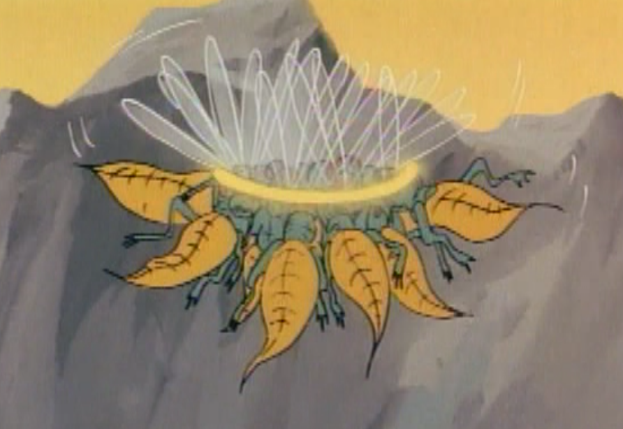 Giant wasps encircled by Hank's magic arrows.