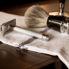 Lather and Shave by Michael Mercer - Artistic Objects Still Life