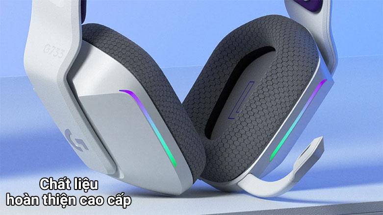 Tai nghe không dây gaming Logitech G733 K/DA | Chất liệu cao cấp