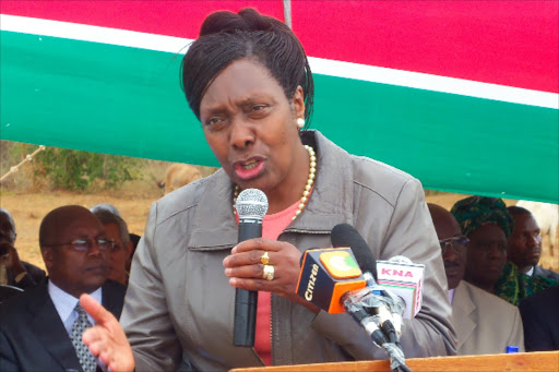Kitui Governor Charity Ngilu at a past function in Kitui Central constituency.
