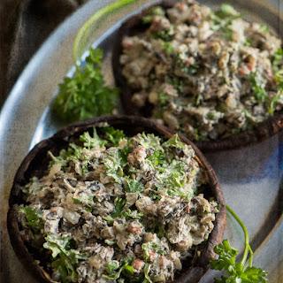 Stuffed Mushrooms with Sunflower Seed Sage and Rosemary Cream