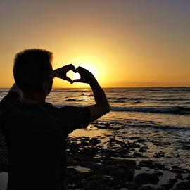 Love Tenerife ❤️ by Monita Alstadsæter - People Street & Candids ( love, sunset, beach, tenerife, husband )