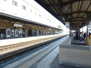 Photo: Lucca train station, to go Siena