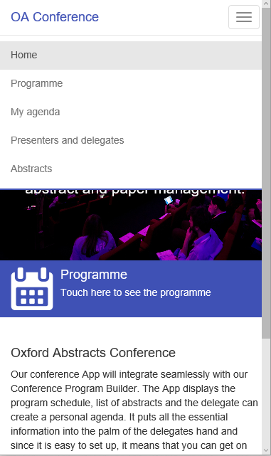 Oxford Abstracts Conference- screenshot