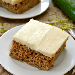 Zucchini Spice Cake with Cream Cheese Frosting