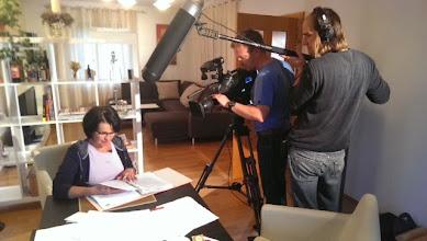 Photo: Christa Leitner-Horvath in ihrer Eigenschaft als ORGELockenhaus-Finanzchefin bei Fernsehaufnahmen für den ORF