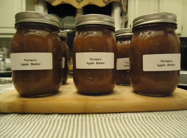 Norma's Home-made Oven Baked Sweet Cider Apple Butter Recipe