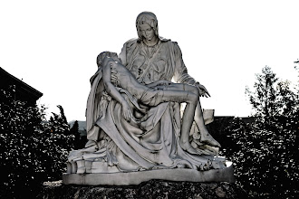 Photo: At the backyard of the Cathedral is a replica of Michelangelo's Pietà.