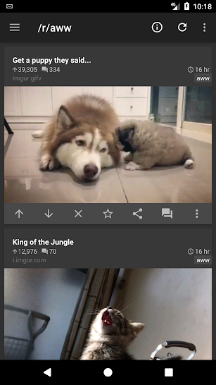 reddit is fun (unofficial) screenshot for Android