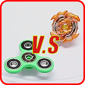 Fidget Spinner Beyblade Battle