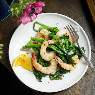 Spicy Roasted Shrimp and Broccoli Rabe