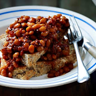 Proper Baked Beans With Soda Bread Toast.
