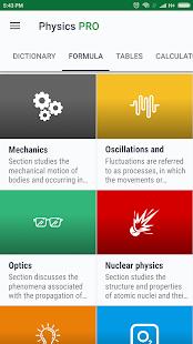 Physics - Calculators[PRO] - náhled