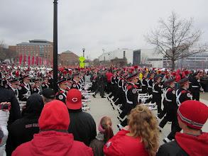 Photo: Band heading to the stadium before Michigan