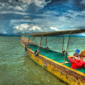 Long Boat by Carol Vega - Transportation Boats ( water, transport, sea, ocean, boat )