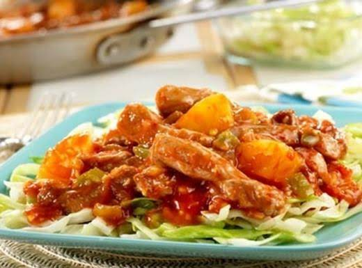 Sweet And Sour Pork  With Cabbage Recipe