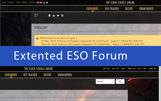 Extented ESO Forum