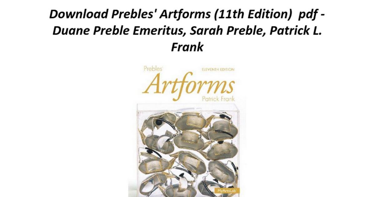 Prebles artforms 11th edition google docs fandeluxe Images