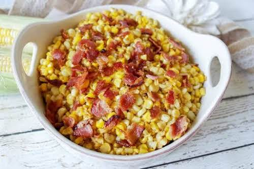 """Bacon Fried Corn """"Oh my goodness, this fried corn recipe is so..."""