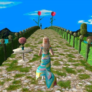 Princess runner. Endless bridges