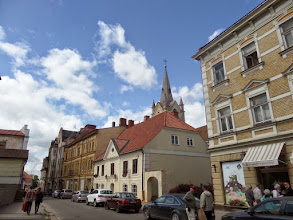Photo: Cesis is one of the oldest towns in Latvia.  St. John's Church in the back was built in the 13th century.  It is the largest basilica outside of Riga.