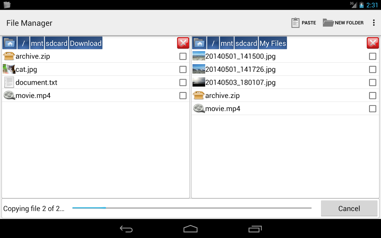 File Manager by Moniusoft- screenshot