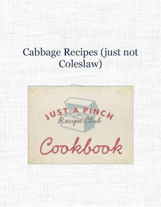 Cabbage Recipes (just not Coleslaw)