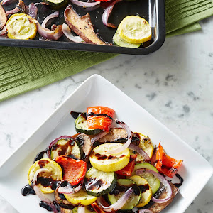 Roasted Veggies with Balsamic Glaze