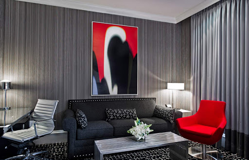 A suite at the Moderne Hotel in midtown Manhattan.