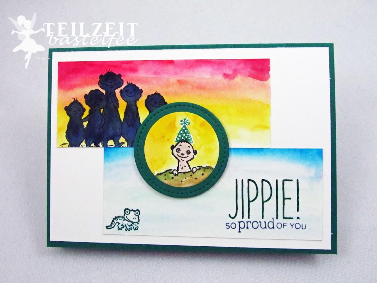 Stampin' Up! - Inkspire_me, Sketch Challenge, Von uns allen, SAB, Sale-a-Bration, Zoo Globe, Erdmännchen, Meerkat, Gang's all Meer