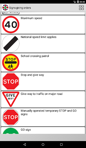Road signs (Traffic Signs) United Kingdom  screenshots 16