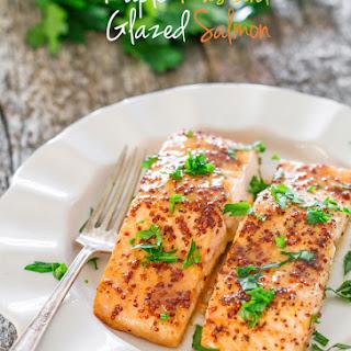 Maple Mustard Glazed Salmon.
