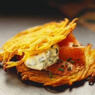 Potato Rosti with Salmon